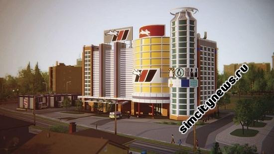Simcity 5 автобусный терминал