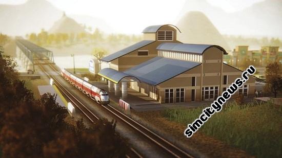 Simcity 5 железнодорожный вокзал