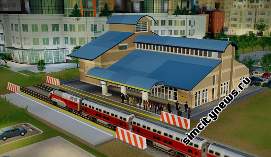 Simcity вокзал поездов