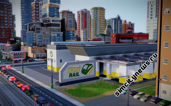 Трамвайное депо SimCity