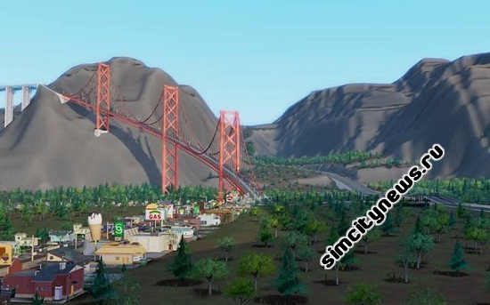 Ландшафт карты SimCity