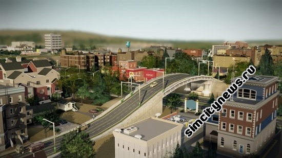 Повысить опустить дорогу SimCity