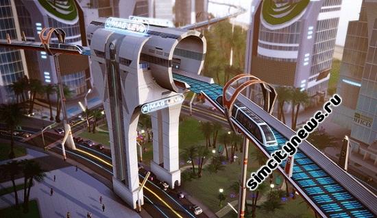 Транспорт SimCity Города будущего