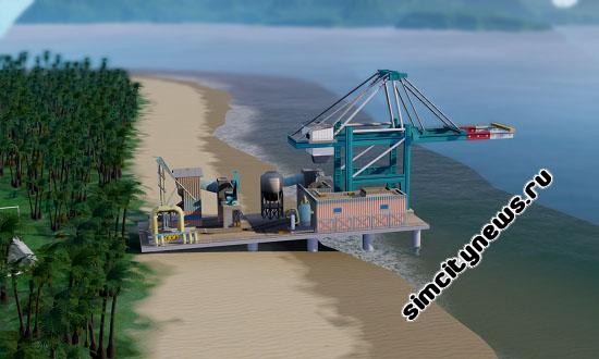 Док в торговом порту