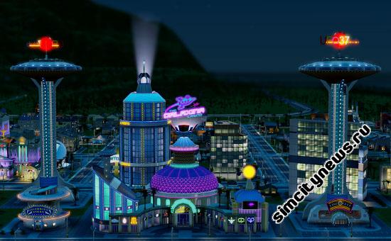 Ночное космическое казино