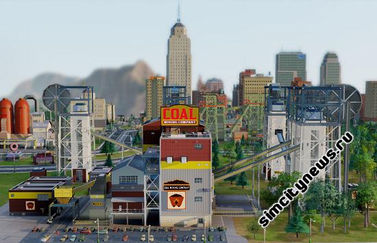 Расширенная угольная шахта в SimCity