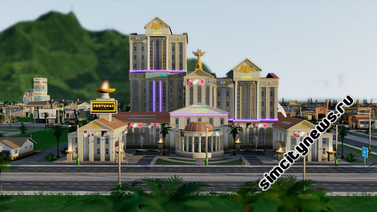 Римское казино в SimCity