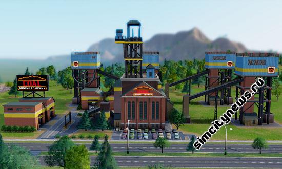 Угольная шахта Симсити