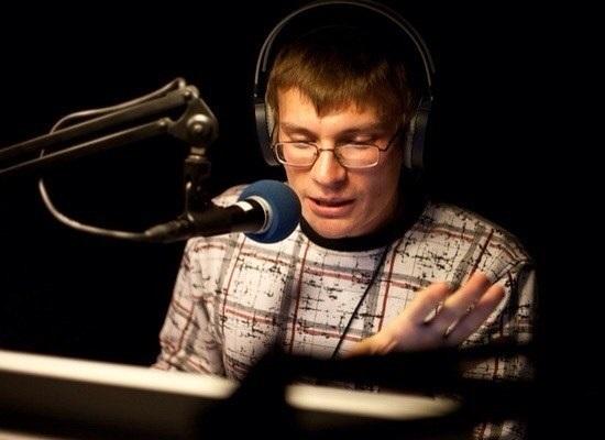 Алексей в студии звукозаписи