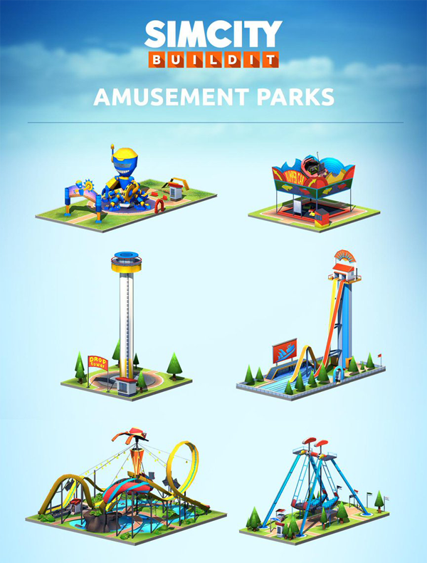 Amusement parks SimCity