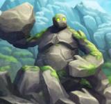 Огромный каменный монстр